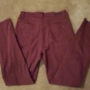 Red Wine Lee Classic Fit Jeans